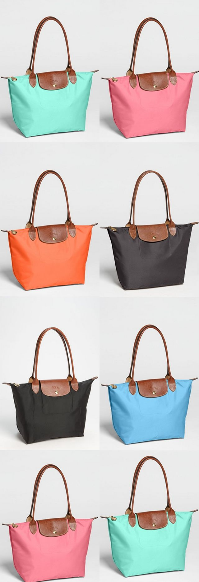 Colorful totes. I'll take one in each color, please! love my longchamps