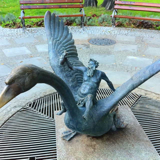 Zielona Gora - Bakhus flying on goose