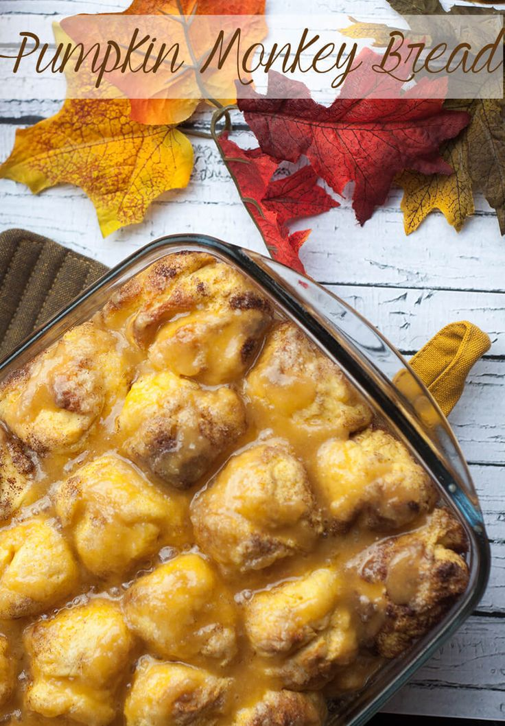 pumpkin monkey bread for fall on Life Sew Savory