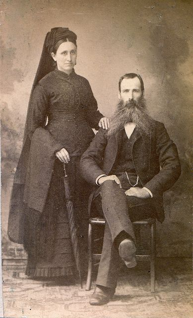 Michigan Couple in Mourning, Albumen Carte de Visite, Circa 1885. © Ann Longmore-Etheridge Collection. | Flickr - Photo Sharing!