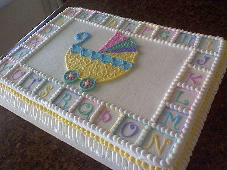 Baby Shower Sheet Cakes | stroller baby shower sheet cake cakecentral