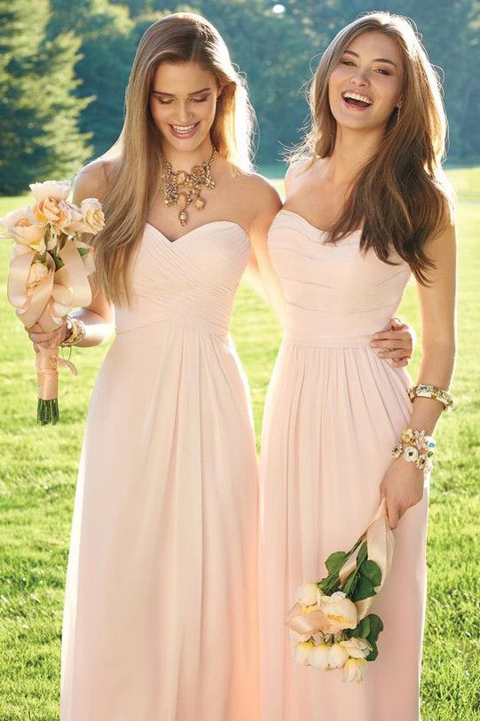 Mermaid Lace Blush Pink Bridesmaid Dresses,Vintage Bridesmaid Gowns With Spaghetti Straps,M30