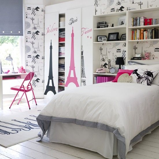 Go for a chic city theme | Teen bedroom | PHOTO GALLERY | Ideal Home | Housetohome