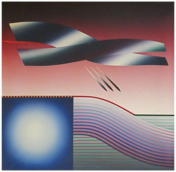 "Stefan Knapp (Polish/British, 1921-1996), Album Cover for ""The Best of The Alan Parsons Project"", 1982, acrylic on canvas"