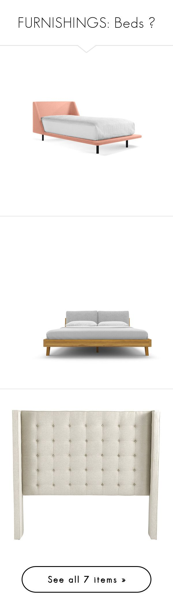 """""""FURNISHINGS: Beds 🛏"""" by beneath-the-mystic-moon ❤ liked on Polyvore featuring home, furniture, beds, pink, blu dot bed, cushioned headboard, padded bed, pink headboard, blu dot furniture and bed"""