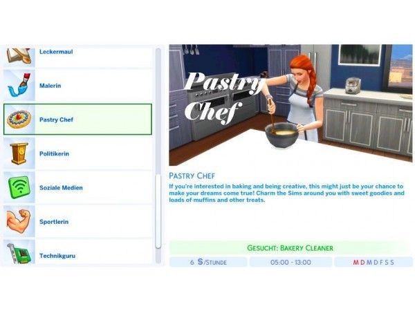 The Sims 4 Pastry Chef Career By Simlicioussarah Sims 4 Jobs