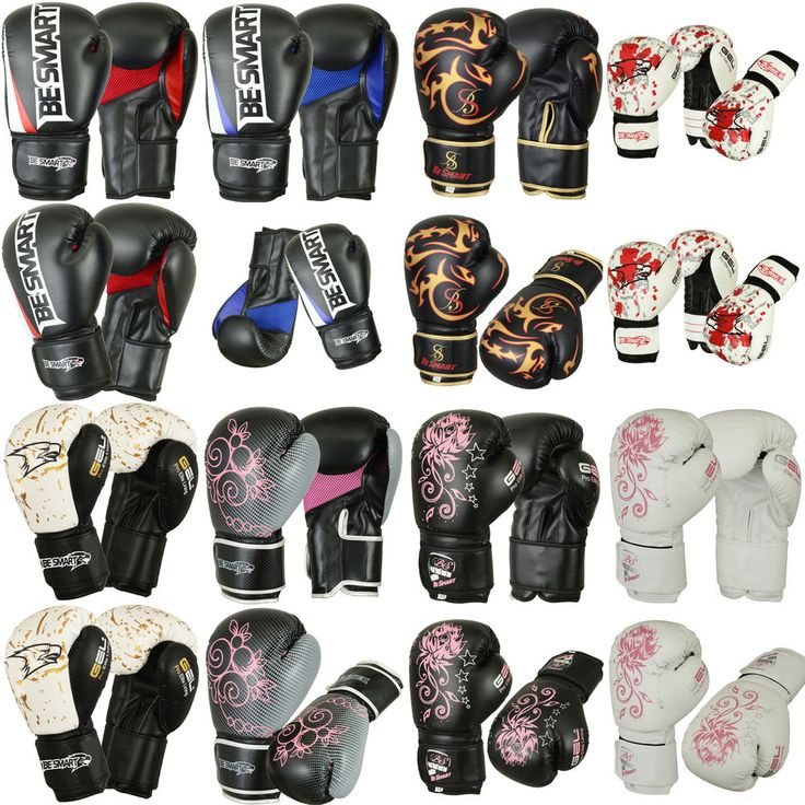 Smart Pro Leather Boxing Gloves,MMA,Sparring Punch Bag,Muay Thai Training Gloves in Sporting Goods, Martial Arts, Training Equipment | eBay