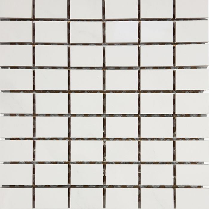 Check out the deal on Tesoro Bianco Statuario - Stacked #5 1 1/4 x 2 Mosaic at GBTile Collections