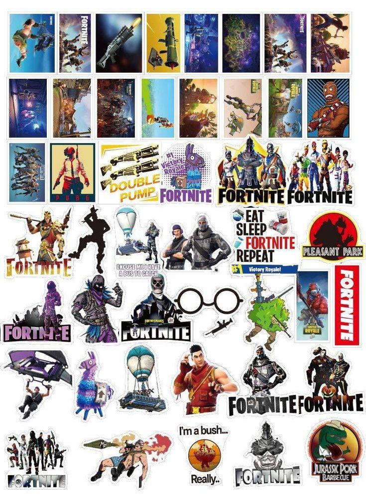 Fortnite Sticker Set Of 46 In 2019 Gamer Space