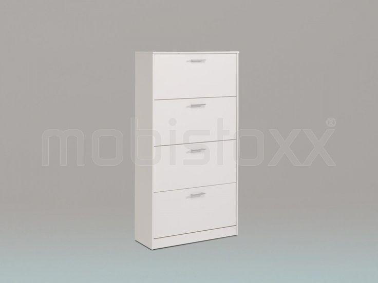 Schoenenkast INFINITY 4 deuren wit | Mobistoxx | Meubels online | bureau, inkom, kinderkamer, slaapkamer, keuken, eetkamer, salon, zitbanken, relaxfauteuils en badkamer