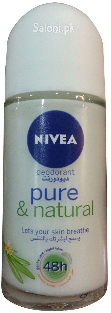NIVEA PURE & NATURAL 48H DEODORANT 50 ML Saloni™ Health