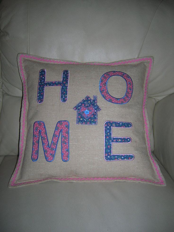 HOME applique cushion I made.