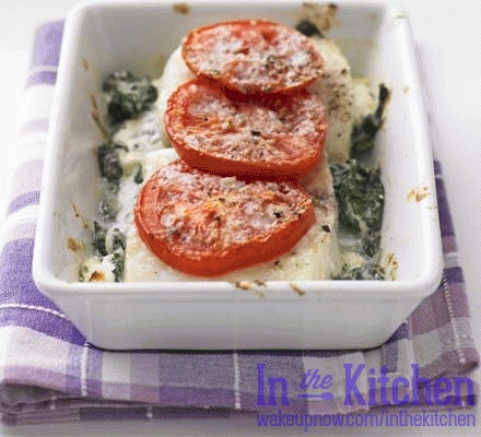 Haddock and Spinach Cheese Melt