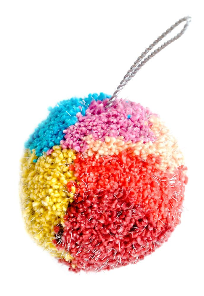 Colorpop Pom Pom Ornament by Leif. I'm all about a fiesta Christmas