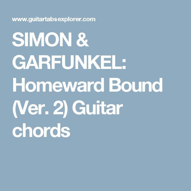 Homeward bound guitar chords