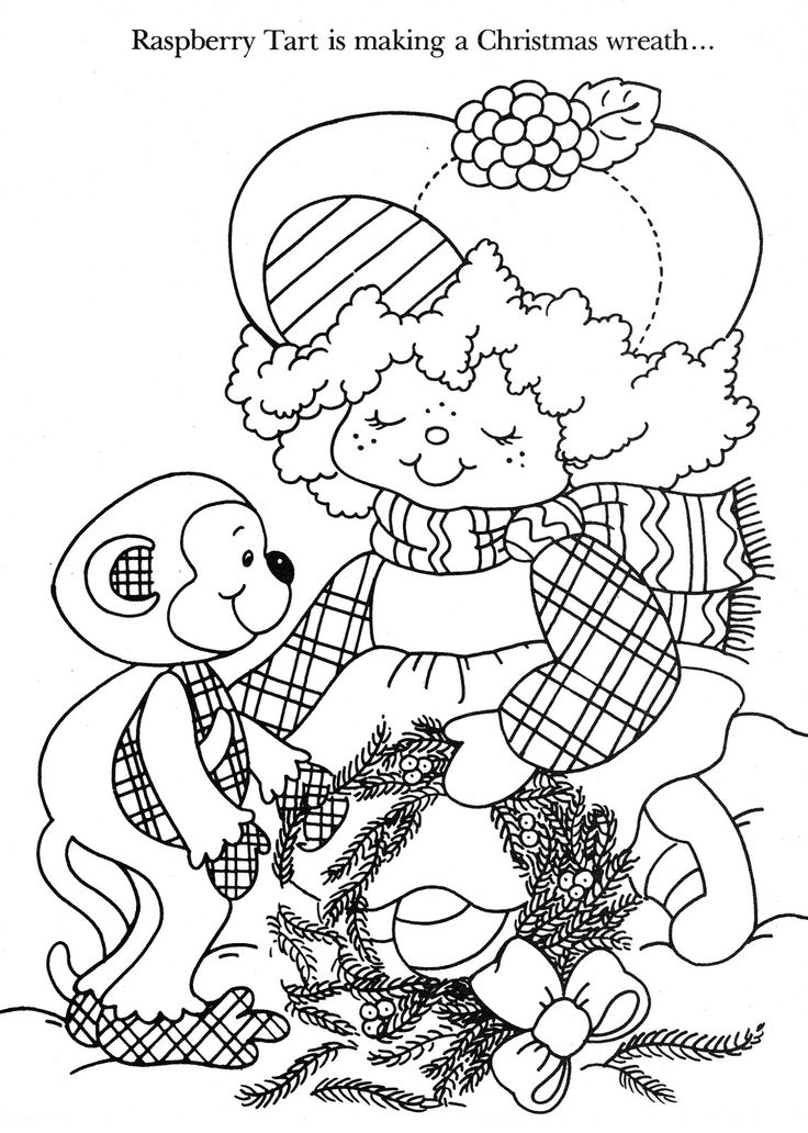 christmas strawberry shortcake coloring pages - photo#9