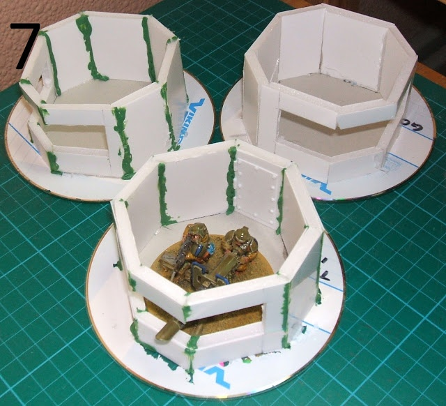 Too few tanks terrain tutorial simpler mini bunkers for for Decor 40k