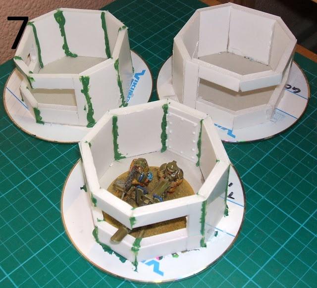 Too few tanks terrain tutorial simpler mini bunkers for for Decor 40k