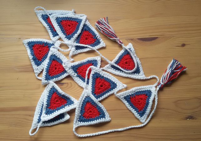 Red, White and Blue crochet bunting £15.00