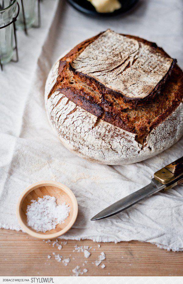 Domowy chleb - CUDO! Przygotuj: 100 g mąki żytniej, 30… na Stylowi.pl