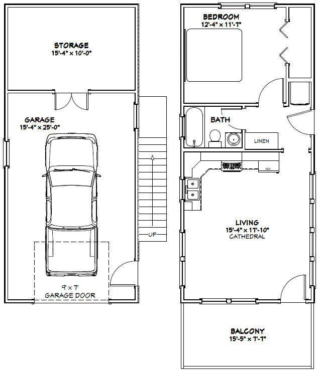 16x36 Tiny House -- #16X36H10A -- 744 sq ft - Excellent
