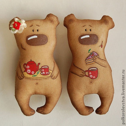 Ароматизированные куклы ручной работы. Ярмарка Мастеров - ручная работа Медвежье чаепитие. Handmade.