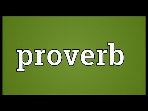 Proverb Meaning - YouTube
