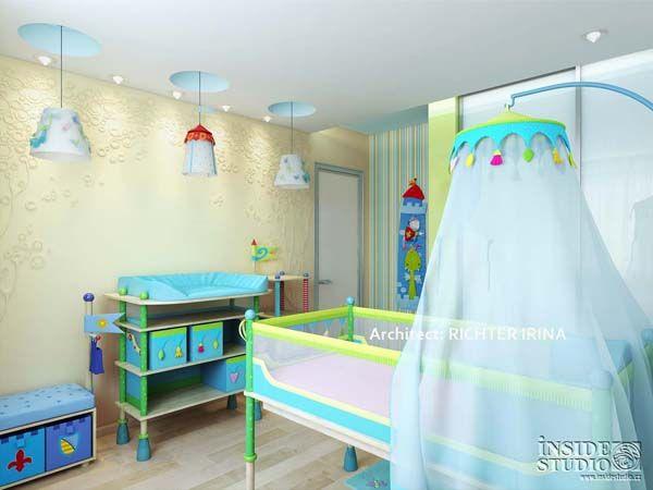 Дизайн проект интерьера детской спальни  Архитектор Рихтер Ирина http://www.insidestudio.ru/#!flat-243/c1uxi