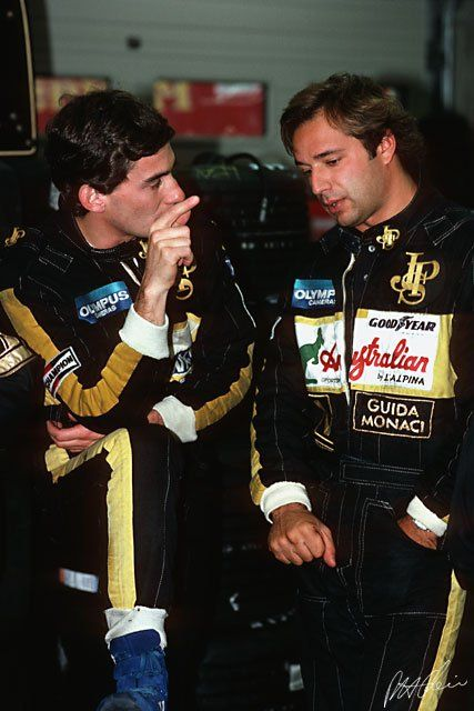 with Lotus teammate Elio de Angelis(1985)