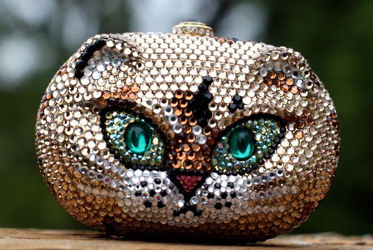 KATHRINE BAUMANN GRUMPY CAT PURSE CLUTCH & JUDITH LEIBER ...