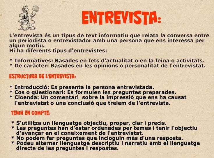 Característiques entrevista