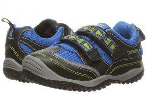 Teva Kids Cartwheel (Toddler) (Black/Blue) Boys Shoes