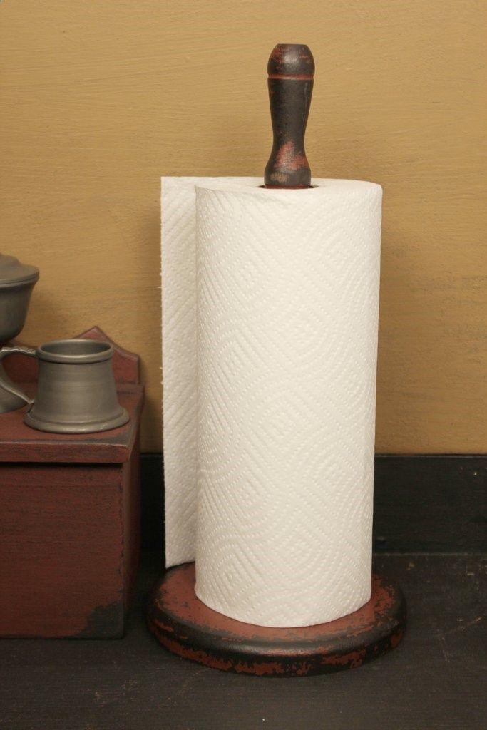 KJ-PTH-R Wooden Paper Towel Holder [Red]