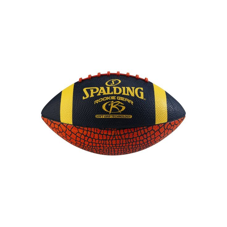 Spalding Rookie Gear Soft Grip Pee Wee Football - Red/Blue Armadillo,