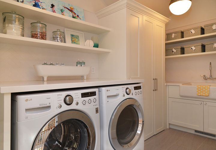 laundry room with farmhouse sink laundry rooms