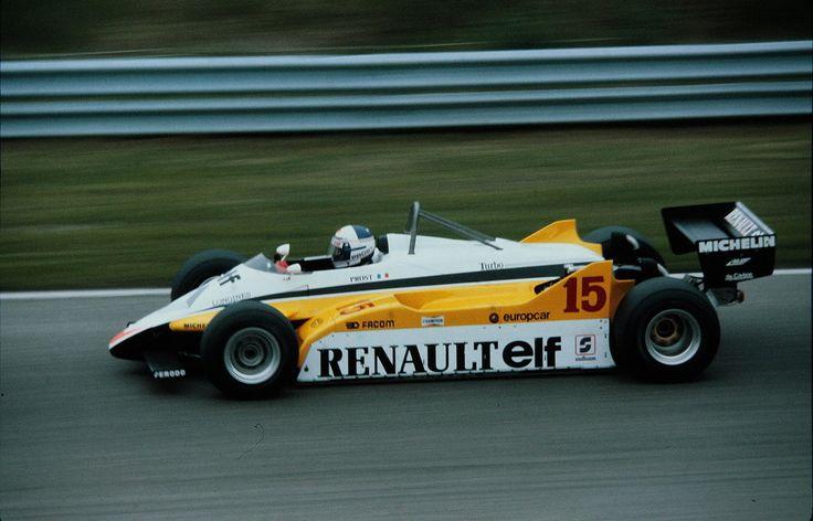 Alain Marie Pascal Prost (FRA) (Equipe Renault Elf), Renault RE30B - Renault-Gordini EF1 1.5 V6 (t/c) (RET) 1982 Dutch Grand Prix, Circuit Zandvoort © Renault Sport F1 / John Millar | Source: Fickr