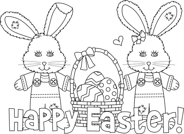 happy bunny coloring pages - photo#14