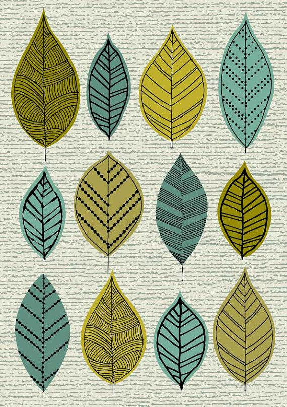Spring Greens limited edition giclee print by EloiseRenouf on Etsy, $25.00