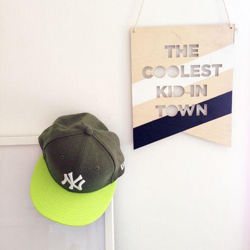 COOLEST KID IN TOWN PLAQUE http://foxandweave.bigcartel.com Instagram: FOX_AND_WEAVE
