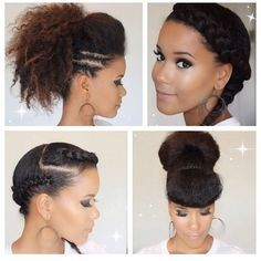 Different ways to style hair | Natural styles | Pinterest