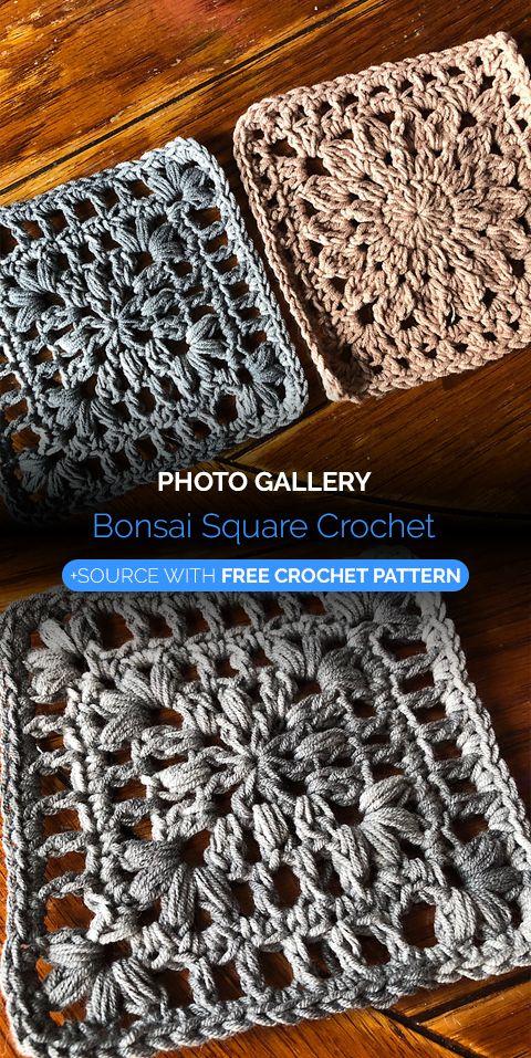 Bonsai Square Crochet | 1001 Free Crochet Patterns | Pinterest | Tejido