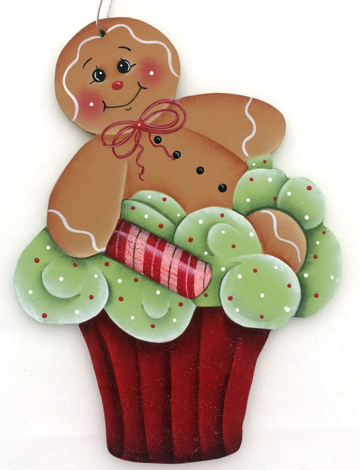 HP GINGERBREAD ORNAMENT red cupcake