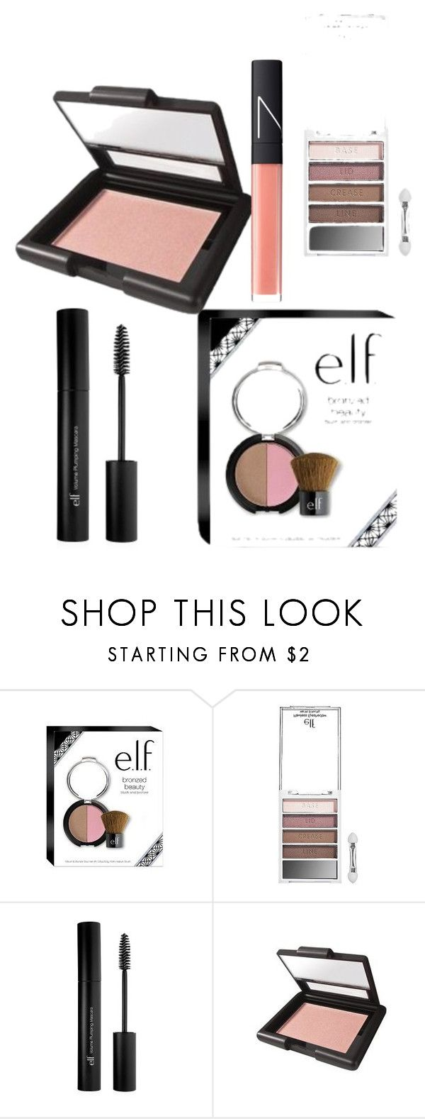 """May showers"" by heather-harmon-i ❤ liked on Polyvore featuring beauty, e.l.f., NARS Cosmetics and springglow"