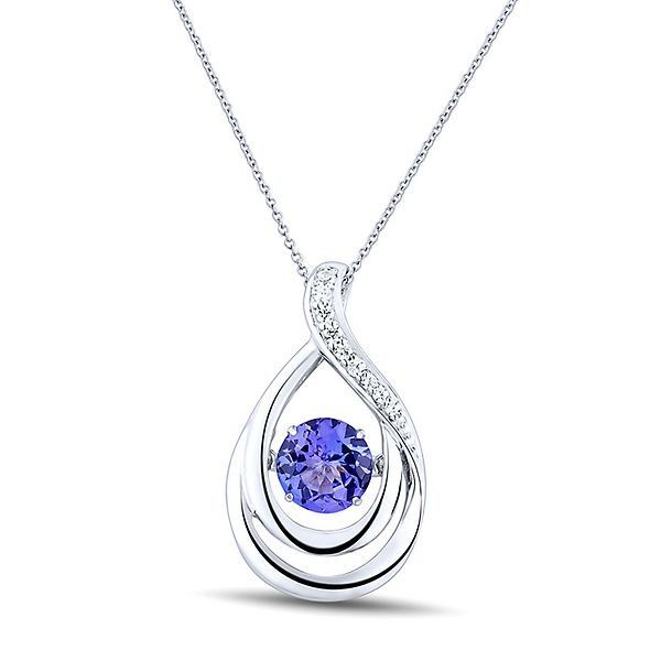 6.5mm Round Cut Solitaire Citrine Pendant Yellow Gold Plated Birthstone Necklace Silver Pendant for Women