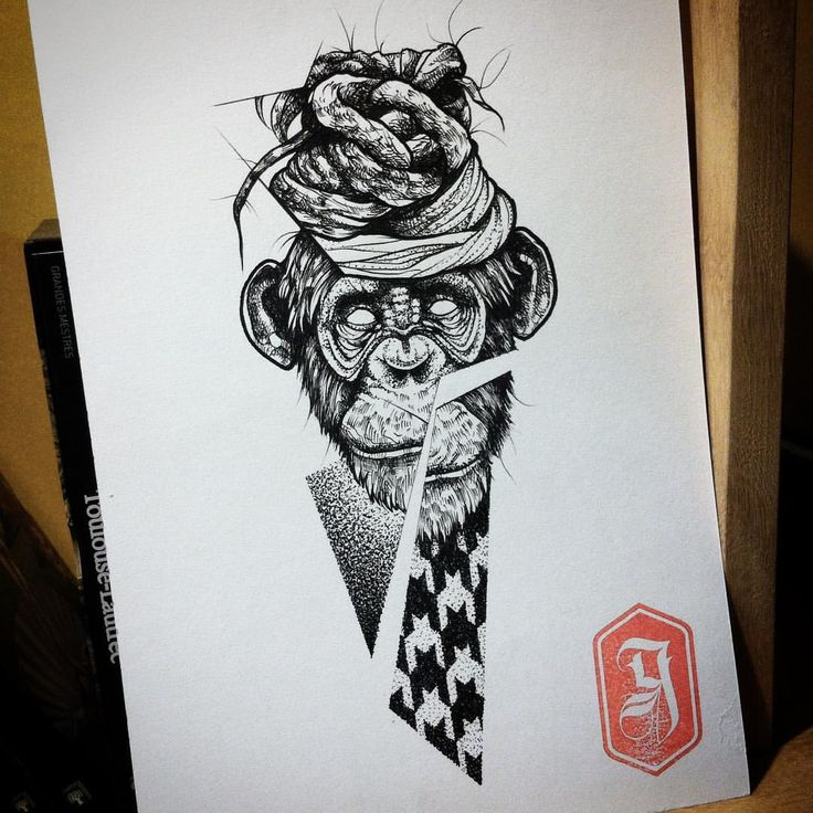#goma90 #tattoosketch #blackwork #dotwork #dreads #monkey