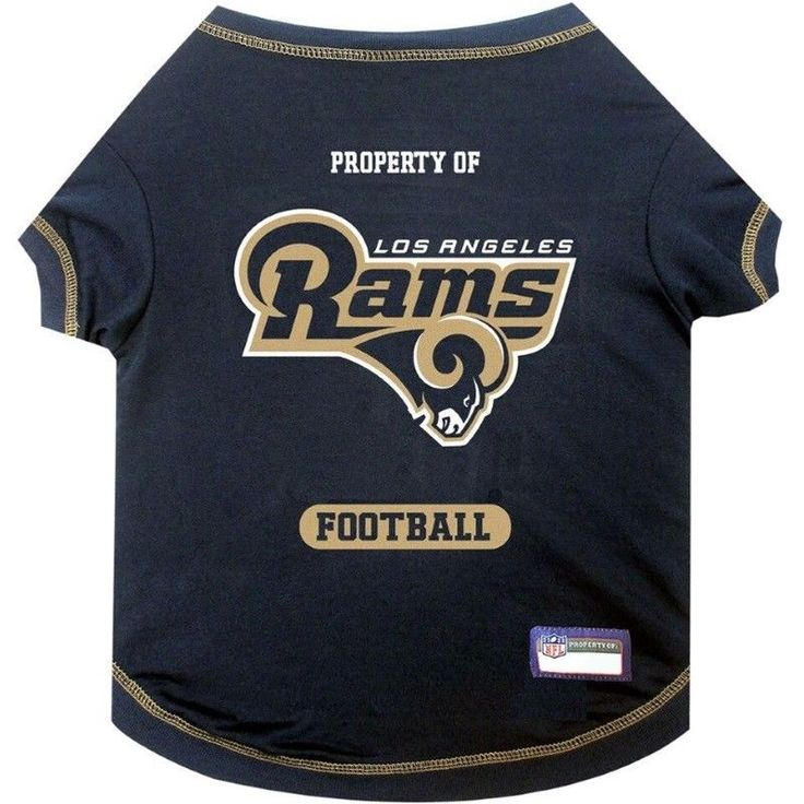 Los Angeles Rams Officially Licensed NFL Dog Pet Tee Shirt, Navy Blue XS-XL #PetsFirst