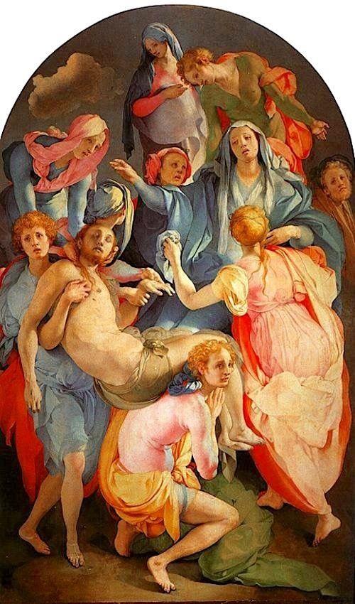 Jacopo Pontormo Trasporto di Cristo morto (deposizione) 1526-28.