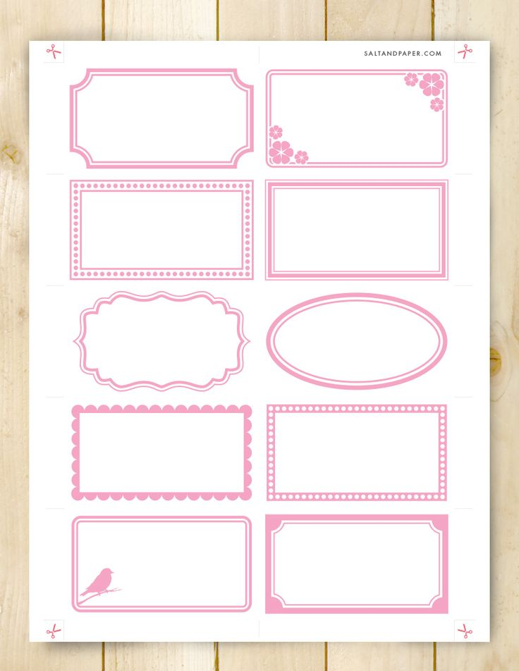 Assorted Labels printable by Salt and Paper