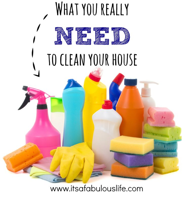 What Cleaning Supplies You Need To Stock A Cleaning Caddy - Great list!! #clean #organize http://itsafabulouslife.com/cleaning-supplies-need-stock-cleaning-caddy/