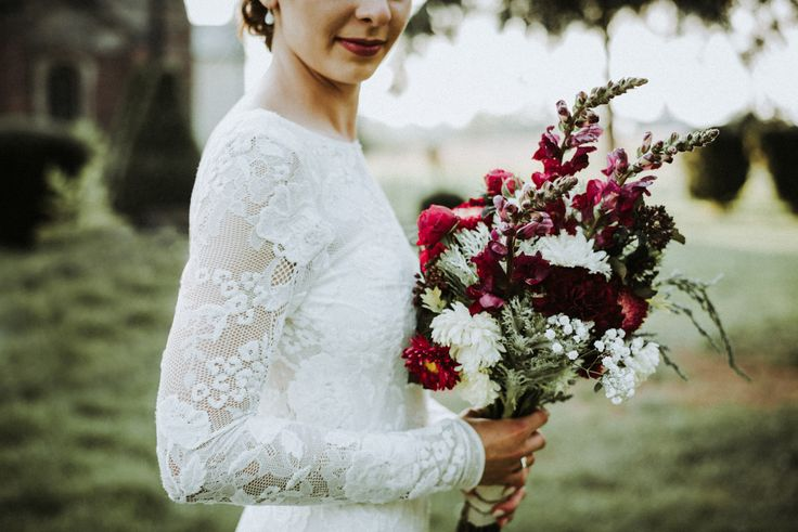 Beautiful marsala wedding bouquet made by Bride mother <3